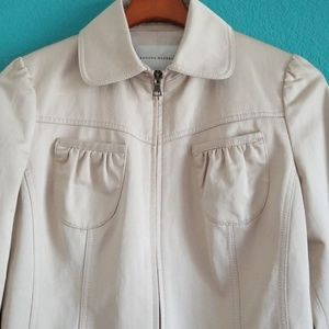 {Banana Republic} Cream Fitted Cropped Jacket